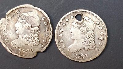 1832 & 1837 Liberty Capped Bust Half Dimes