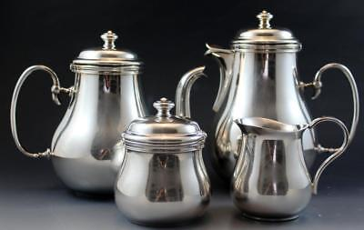 Vintage French Christofle Silver Plate Albi Bagatelle 4 Piece Tea Coffee Set