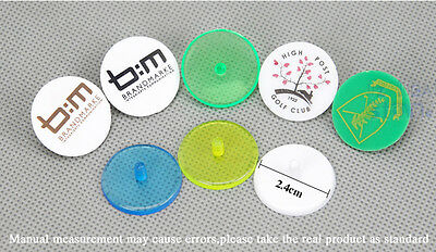 25 x PLASTIC GOLF BALL MARKERS AU STOCK