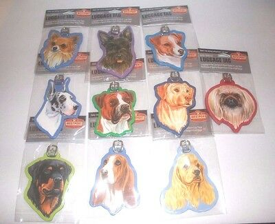 Westport Dog Breeds Luggage, Backpacks, Gym Bags Tags, Dog Lover Must Have!