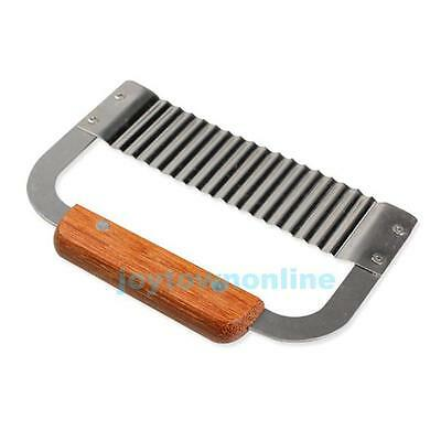 Stainless Steel Blade Potato Vegetable Wax Soap Cutter Crinkle Wavy Slicer Tool