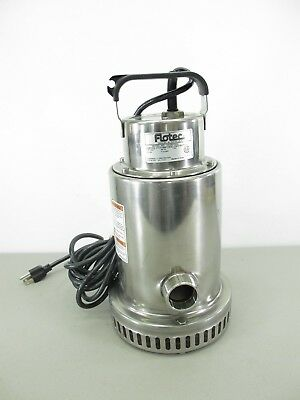 """Flotec FP0S4100X 68.3 GPM 1/2 HP (1-1/4"""") Stainless Steel Waterfall Utility Pump"""