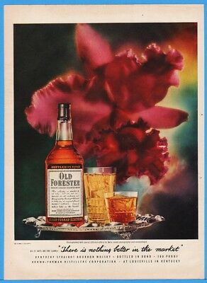1952 Old Forester Whisky Brown Forman Distillers Louisville Kentucky ORCHID Ad
