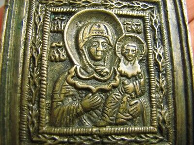 Kazan Mothers Of God !massive !very Nice Relief! Late Medieval  Bronze Icon #29