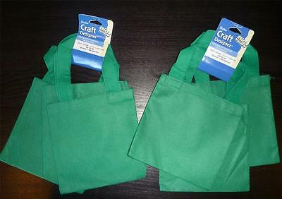 NWT Girl mini GREEN TOTE BAGS Set of 6 --PATCHES treats party Scouts Birthday