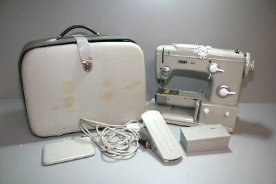 Vintage Pfaff 360 Sewing Machine With Accessories And Hard Shell Carrying Case