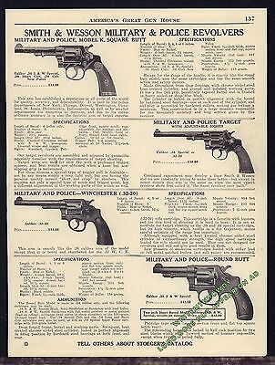 1940 SMITH & WESSON Military & Police Model K, Target, Winchester Revolver AD