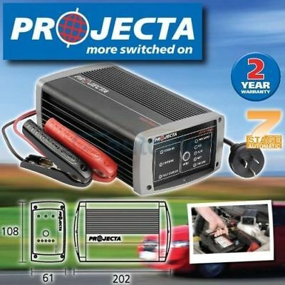 Projecta Ic1000 Battery Charger 12 Volt 10A Amp 12V 7 Stage Agm Deep Cycle New