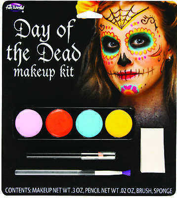 Day Of The Dead M/U Kit Female Adult Women Costume Accessories