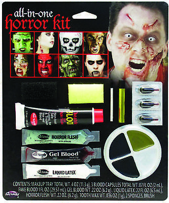 All In One Horror Makeup Make up Kit  Costume Accessories