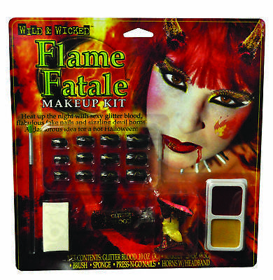 Makeup Kit Flme Fatale Wild W  Costume Accessories