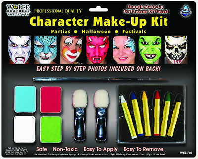 Character Makeup Kit Wolfe Bro  Costume Accessories