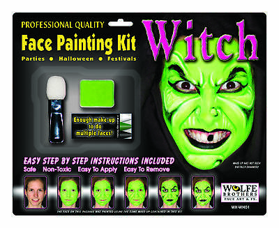 Witch Makeup Kit Wolfe Bros  Costume Accessories