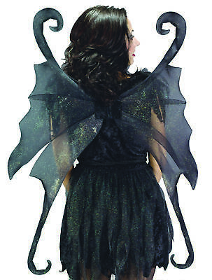 Wings Fairy Large Black  Costume Accessories