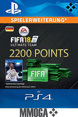 PS4 - FIFA 18 Ultimate Team - 2200 FUT Points Key Playstation 4 Code Nur für DE