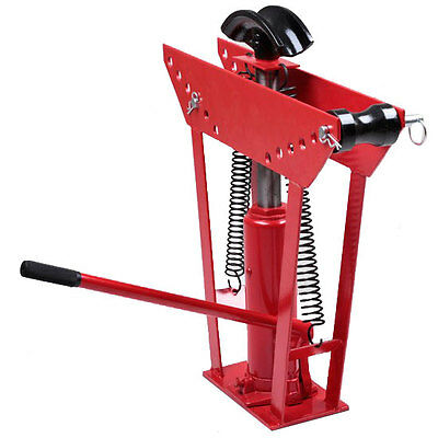 Hydraulic Pipe Tube Bender 6 Dies Tubing Exhaust Bending 12 Ton Heavy Duty Red