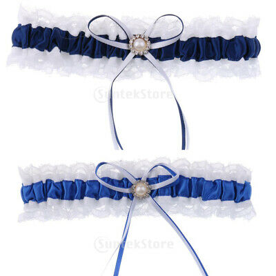 Satin Lace Wedding Bridal Garter with Ribbon Bow Party Accessories