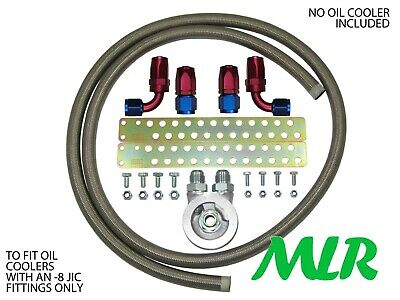 Ford Fiesta Mk4 Mk5 An -8 Jic S/S Braided Hose Oil Cooler Fitting Kit Zpm-3/4Unf