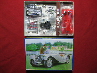 Rare Tomy Jaguar SS100 1:32 Vintage Metal + Plastic Model Kit Unused Japan Car