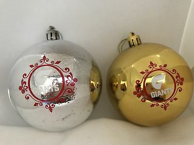GWS Giants AFL Set of 6 Xmas Christmas Tree Bauble Decorations