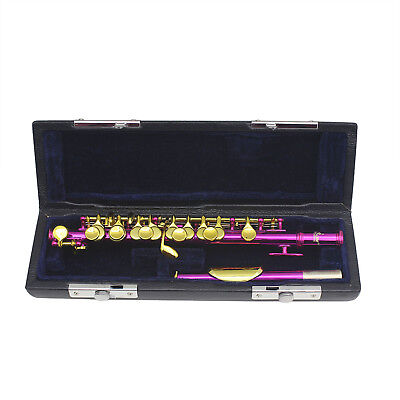 4 Color 16 Holes Piccolo C Key For School Band ,Beginners ,With Hard Case