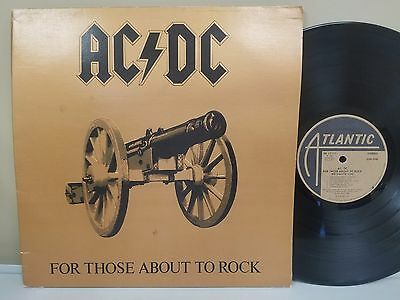 AC/DC For Those About To Rock LP 1981 Atlantic Records Masterdisk RL 1st Press