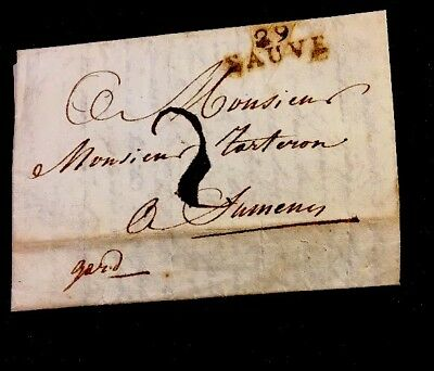 An Important Letter In French 1817