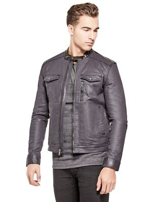 G By Guess Men's Moto Denim Jacket