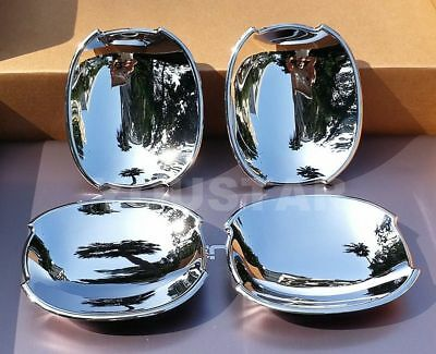 FAST EMS x4 ROYAL CHROME Door Handle Bucket Insert Covers for Jaguar XF XE 15 ON