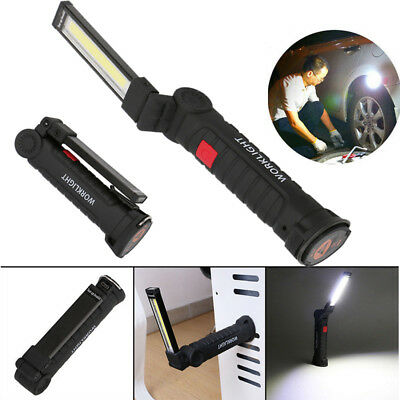 Rechargeable COB+LED Magnetic Torch Lamps Flexible Flashlamp Cordless Worklight