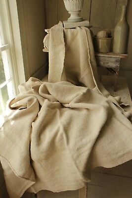 Antique HEMP linen sheets 2 matching for Curtains  upholstery 9 POUNDS HEAVY !