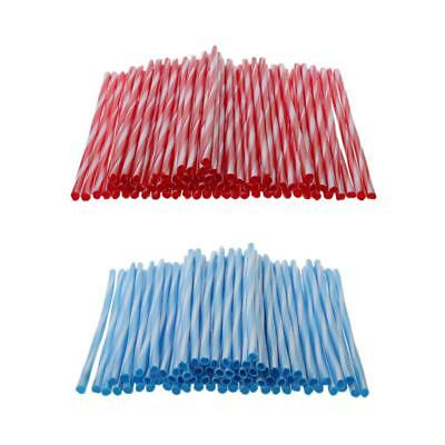 Motorcycle Wheel Spoke Wraps Kit Rims Skin Cover Guard Blue and Red