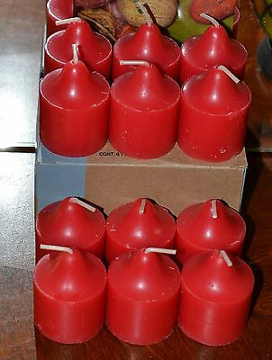 PARTYLITE 1 DOZ RED APPLE ORCHARD VOTIVES brand new supply 30% DISCOUNT
