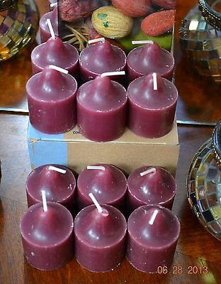 PARTYLITE 1 DOZ SUNSET WOODS VOTIVES brand new SCENT 40% DISCOUNT