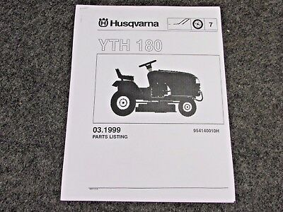husqvarna gth2548 tractor parts manual 8 95 picclick rh picclick com husqvarna gth2548 parts manual GTH2548 Husqvarna Belts