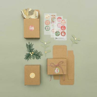 Advent Boxes Create your own DIY Advent Calendar 24 Mini Brown Kraft Boxes