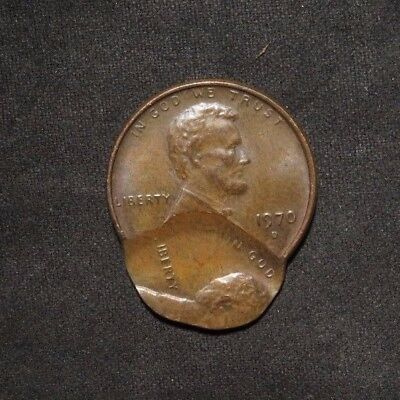 1970-D Lincoln Cent 1¢- DOUBLE STRIKE ERROR- Off Center And Rotated- RARE!
