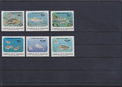 056292 Fische Fish El Salvador 1577-82 ** MNH Year 1985