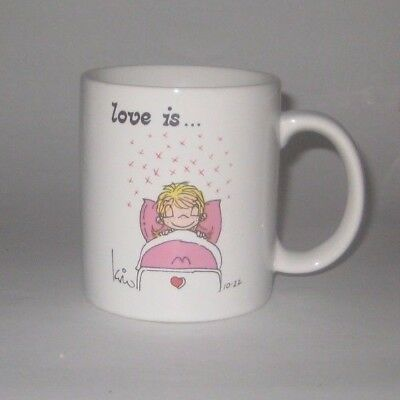LOVE IS...COUNTING HIS KISSES Vintage 1985 LOVE IS by KIM Pottery COFFEE MUG
