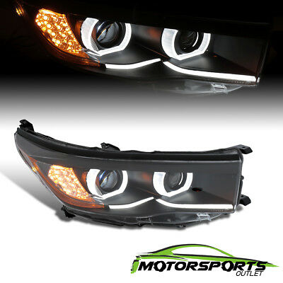 [Plank Style]For 15-17 Toyota Highlander Black Right LED DRL Projector Headlight