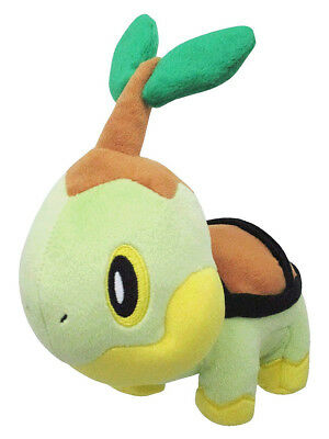 "Sanei Pokemon Sun Moon All Star Collection PP87 Turtwig 6"" Stuffed Plush Doll"