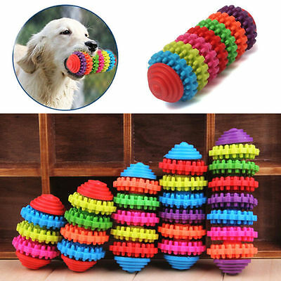 Pet Chew Toys Rubber Dog Puppy Teeth Gums Molar Rod Pet Cat Teethers Durable