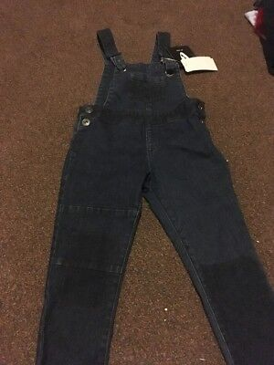 Girls Denim Dungarees Bnwt Age 3-4