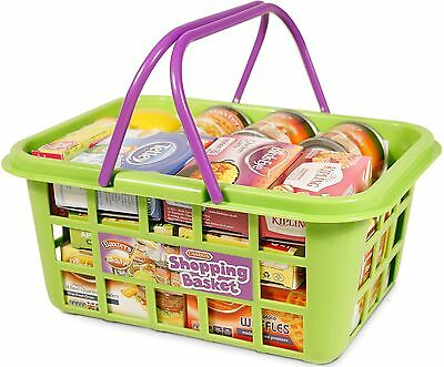 Casdon SHOPPING BASKET WITH FOOD Supermarket Shop Pretend Play Toy/Gift  - BN