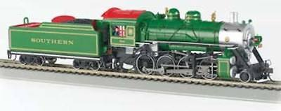 Bachmann 51314 HO Scale DCC 2-8-0 Consolidation Steam Loco Southern, Green #722