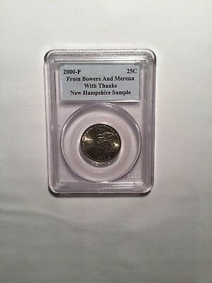 PCGS SAMPLE SLAB From Bowers & Merena 2000-P NEW HAMPSHIRE STATE QUARTER RARE