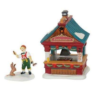 Dept 56 Alpine Village Christmas Market Bratwurst Booth #4059378 BRAND NEW