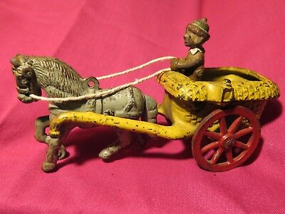 vintage ARCADE Chester Gump with horse + cart cast iron antique toy (goes w/Andy