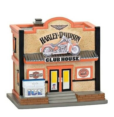 Dept 56 SV Harley-Davidson Clubhouse Box Set/3 BRAND NEW