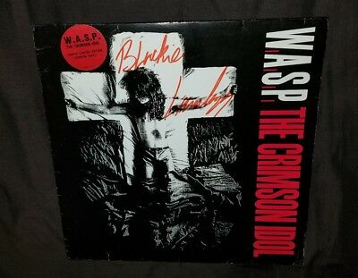 Wasp W.a.s.p The Crimson Idol Blackie Lawless Signed Vinyl Special Edition Lp 92